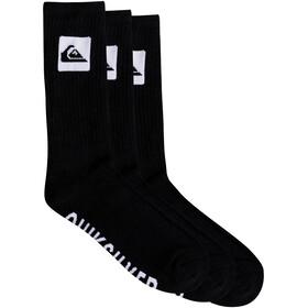 Quiksilver Crew Socks 3 pack, black
